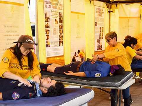 Лава и пепел не остановят помощь саентологических волонтёров
